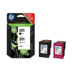 No301 black/color ink cartridge sampack til HP