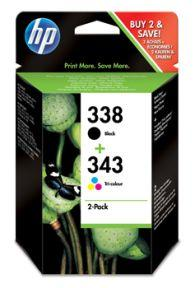 No338/ No343 ink cartridge sampack til HP